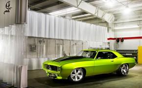 Картинка Classic, Chevrolet Camaro, Muscle car, американский спортивный автомобиль