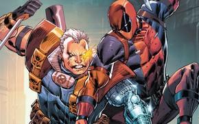 Картинка Нож, Костюм, Драка, Комикс, Deadpool, Marvel, Дэдпул, Marvel Comics, Comics, Wade Wilson, Knife, Комиксы, Fight, …
