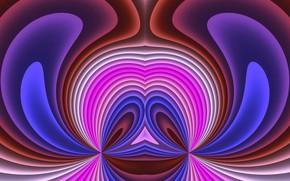 Картинка волны, цвета, фантазия, фигуры