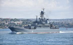 Обои корабль, большой, вмф, азов, десантный, проект 775