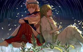 Картинка Двое, Гильгамеш, Fate / Grand Order, Судьба великая кампания