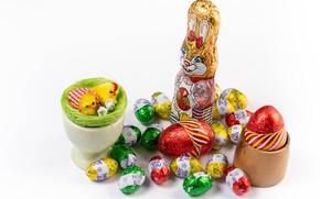 Картинка яйцо, заяц, конфеты, Пасха, Easter