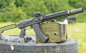 Картинка рендеринг, оружие, тюнинг, Автомат, Gun, weapon, Калашников, АКМ, Штурмовая винтовка, Русский, AKM, штурмовая винтовка, assault …