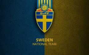 Картинка wallpaper, sport, logo, Sweden, football, National team