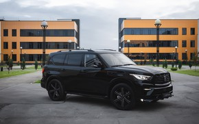 Картинка Infiniti, обвес, QX80, чёрный авто