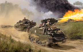 Картинка Великобритания, British Army, Universal Carrier, Лёгкий, многоцелевой бронетранспортер, David Pentland, British Universal Carrier