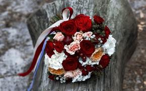 Картинка розы, букет, красные
