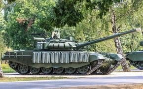 Картинка танк, модернизированный, T-72B3, выставка вооружений, mod.2016