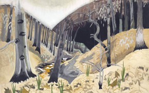 Картинка Charles Ephraim Burchfield, 1917, Early Spring