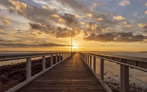 Картинка закат, мост, Fleur Walton