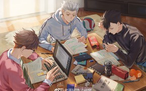 Картинка Haikyuu, Tooru Oikawa, Koutarou Bokuto, Tetsurō Kuroo
