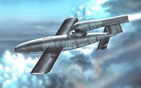 Картинка Luftwaffe, самолёт-снаряд, Fieseler, Reichenberg, Fi 103A-1/Re-4
