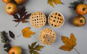 Картинка яблоки, Осень, кексы