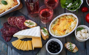 Картинка сыр, колбаса, разности, запиканка