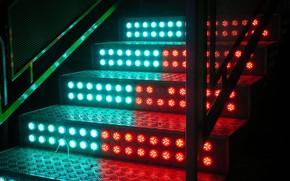 Картинка свет, лестница, ступеньки
