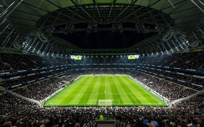 Картинка поле, футбол, stadium, стадион, матч, tottenham hotspur, тоттенхэм, spurs, New White Hart Lane