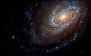 Картинка Stars, Galaxy, Spiral galaxy, Constellation of Coma Berenices, The Umbrella Galaxy, Star Forming Galaxy, NGC …