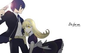 Картинка пистолет, игра, аниме, арт, девочка, парень, персонажи, Persona 5, Персона 5