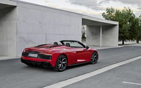 Картинка Audi, Audi R8, вид сзади, Spyder, V10, 2020, RWD