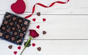 Картинка любовь, шоколад, розы, конфеты, сердечки, love, romantic, hearts, chocolate, valentine, roses