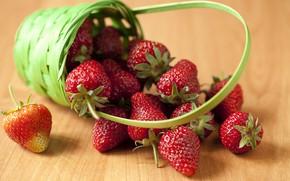 Картинка ягоды, клубника, корзинка