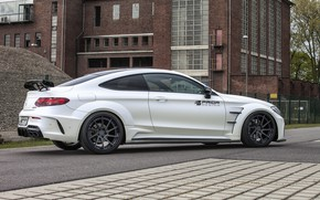Картинка Mercedes-Benz, вид сбоку, AMG, Coupe, C63, Widebody, Prior-Design, C-Class, 2017, C205, PD65CC