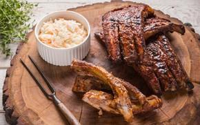 Картинка мясо, капуста, ребра