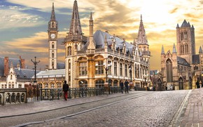 Картинка здания, Бельгия, архитектура, Гент