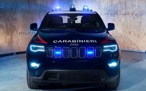 Картинка Police, 2018, Carabinieri, мигалки, Jeep, Grand Cherokee