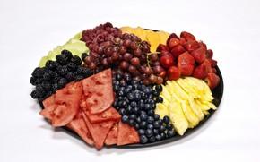Картинка ягоды, блюдо, ассорти