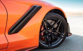 Картинка оранжевый, колесо, Corvette, Chevrolet, ZR1, 2019