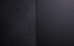 Обои узор, текстура, черный фон, орнамент, design, background