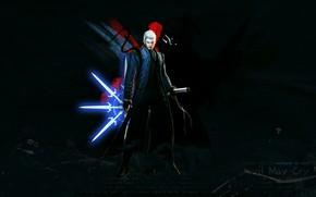 Картинка фон, меч, парень, Devil May Cry 4