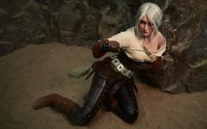Картинка Девушка, косплей, cosplay, Персонаж, The Witcher 3: Wild Hunt, Ведьмак 3: Дикая Охота, Цири, Цирилла, …