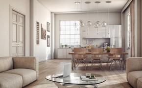 Картинка интерьер, кухня, style, гостиная, Villa, столовая, Loft Apartment, Painti, Comfortable, Zen-like, City Life, Home Showcase …