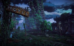 Картинка Небо, Деревья, Horizon, постапокалипсис, Sony Computer Entertainment, Guerrilla Games, Horizon: Zero Dawn, Horizon Zero Dawn