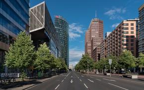 Картинка город, здания, улицы