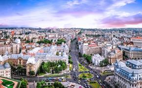 Картинка дома, панорама, Румыния, Бухарест