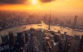 Картинка туман, Китай, Shanghai, Шанхай