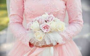 Картинка розы, букет, невеста, свадьба, bouquet, wedding