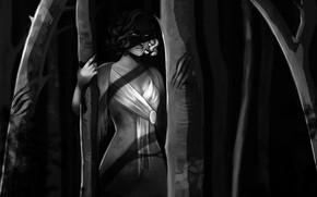 Картинка Девушка, Рисунок, Медуза, Змей, Art, Фантастика, Medusa, Горгона, Gorgon, Горгона Медуза, Змеи, Миф, Medusa Gorgon, …