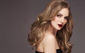 Картинка девушка, модель, волосы, портрет, локоны, Elena Kharichkina