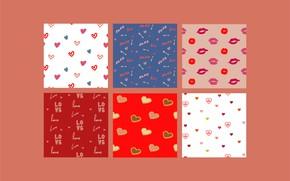 Картинка фон, Love, текстура, сердечки, background, Heart, Pattern