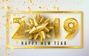 Картинка фон, праздник, цифры, Новый год, 2019