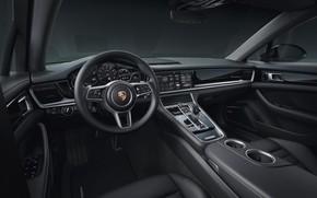 Картинка Porsche, Panamera, салон, 2019, 10 Year Edition