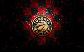 Картинка wallpaper, sport, logo, basketball, NBA, Toronto Raptors, glitter, checkered