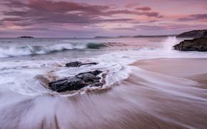 Картинка море, берег, волна