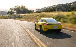 Картинка скорость, Porsche, Cayman, вид сзади, GTS, 718, 2019