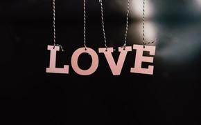 Картинка Love, Любовь, Буквы, Romantic, Романтика