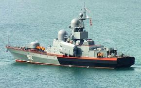 Картинка катер, ракетный, Черное море, Р-71, шифр Молния, проект 12411